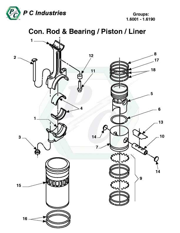 1.6001 - 1.6190 Con Rod and Bearing - Piston - Liner.jpg - Diagram