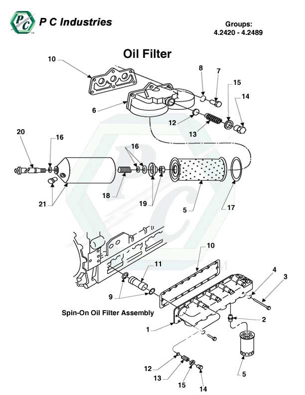 Oil Filter - Series 149 Detroit Diesel Engines Catalog Page 226