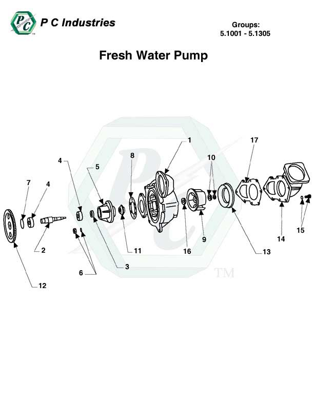 5.1001 - 5.1305 Fresh Water Pump.jpg - Diagram