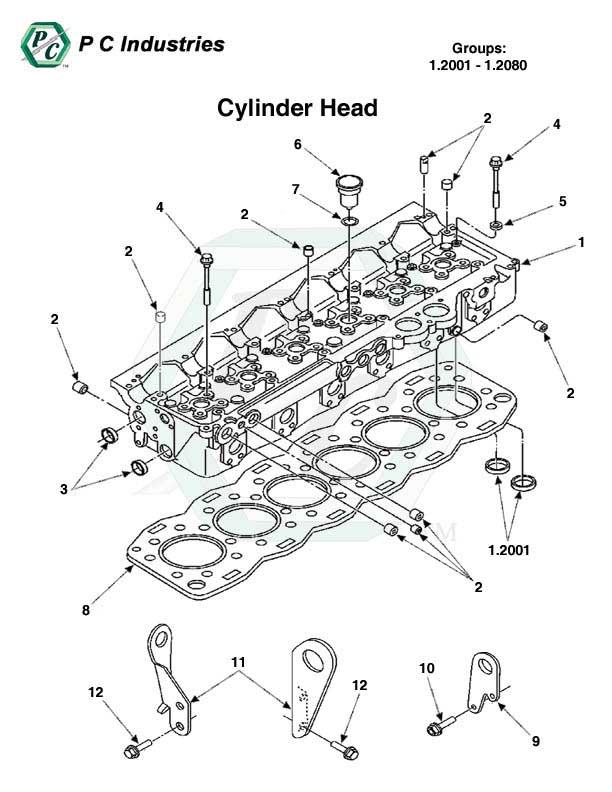 cylinder head head gasket sets series 60 detroit diesel 1 2001 1 2080 cylinder head jpg diagram