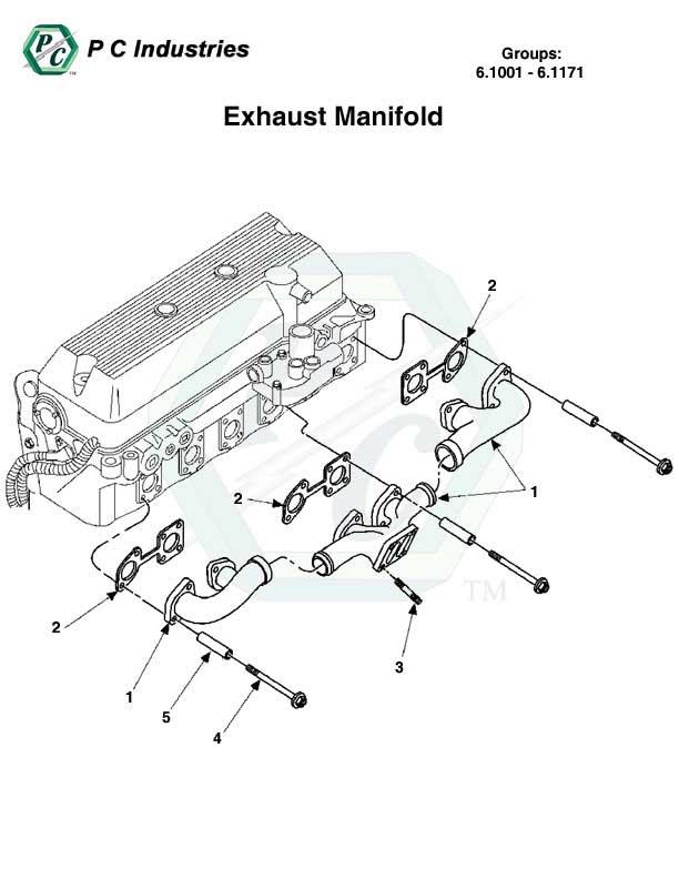 exhaust manifold series 60 detroit diesel engines catalog page 263 6 1001 6 1171 exhaust manifold jpg diagram