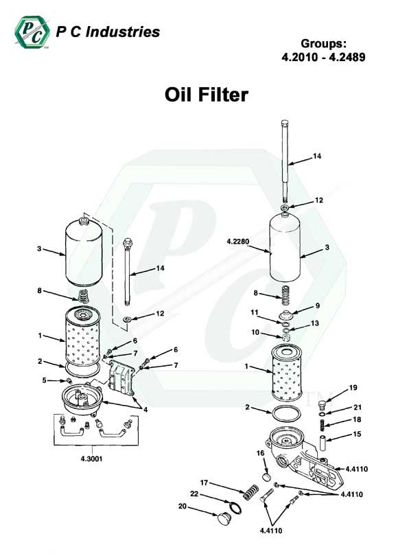 Oil Filter - Series Inline 71 Detroit Diesel Engines Catalog Page 112
