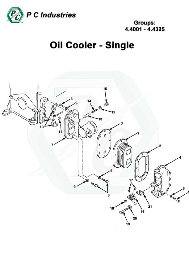 Oil Cooler Series Inline 71 Detroit Diesel Engines