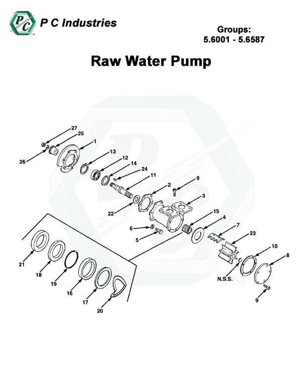 il71_raw_water_pump_pg150-156.jpg - Diagram