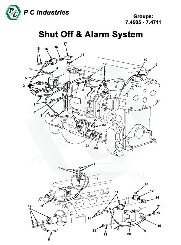 Shut Off Amp Alarm System Series Inline 71 Detroit Diesel