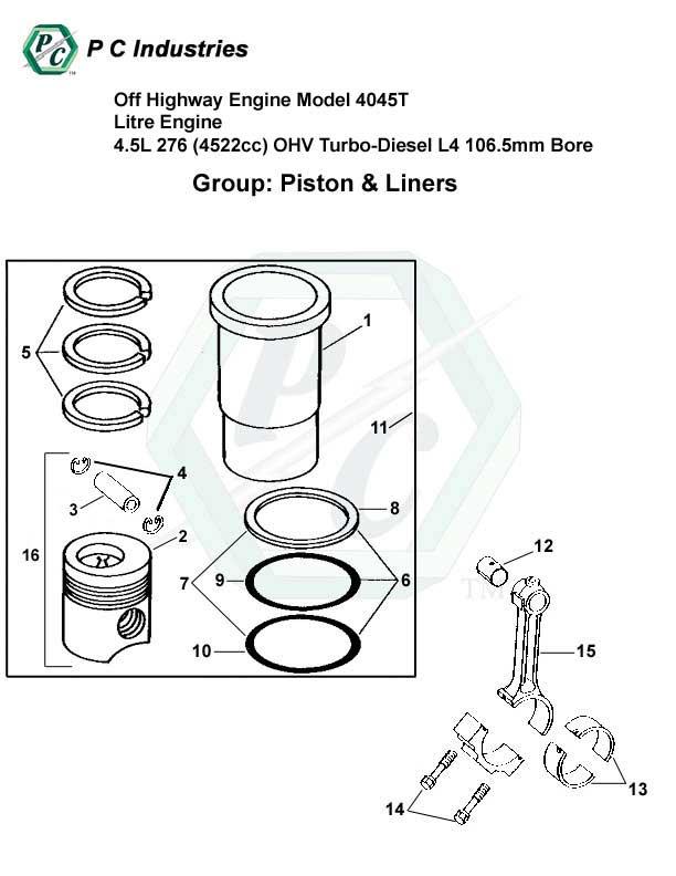 Off Highway Engine Model 4045t Litre Engine 4 5l 276  4522cc  Ohv Turbo