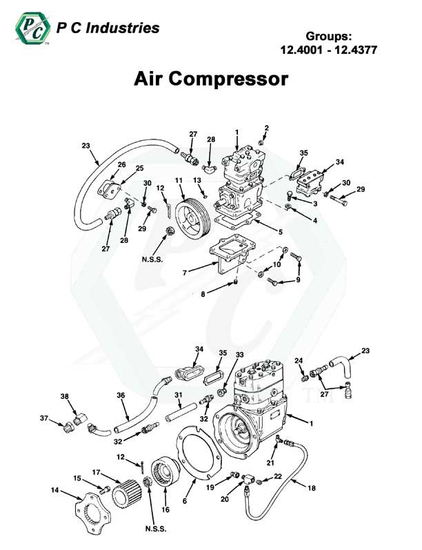 Air Compressor Series Inline 71 Detroit Diesel Engines