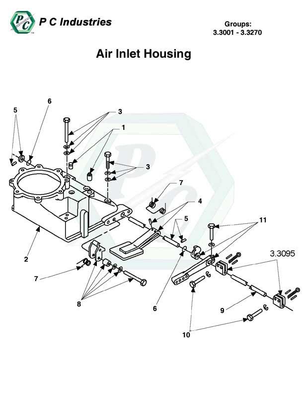 air inlet housing