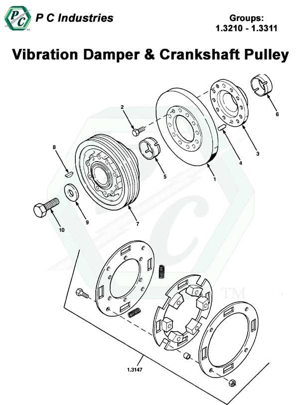vibration damper and crankshaft pulley