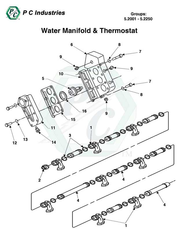 water manifold thermostat series 149 detroit diesel. Black Bedroom Furniture Sets. Home Design Ideas