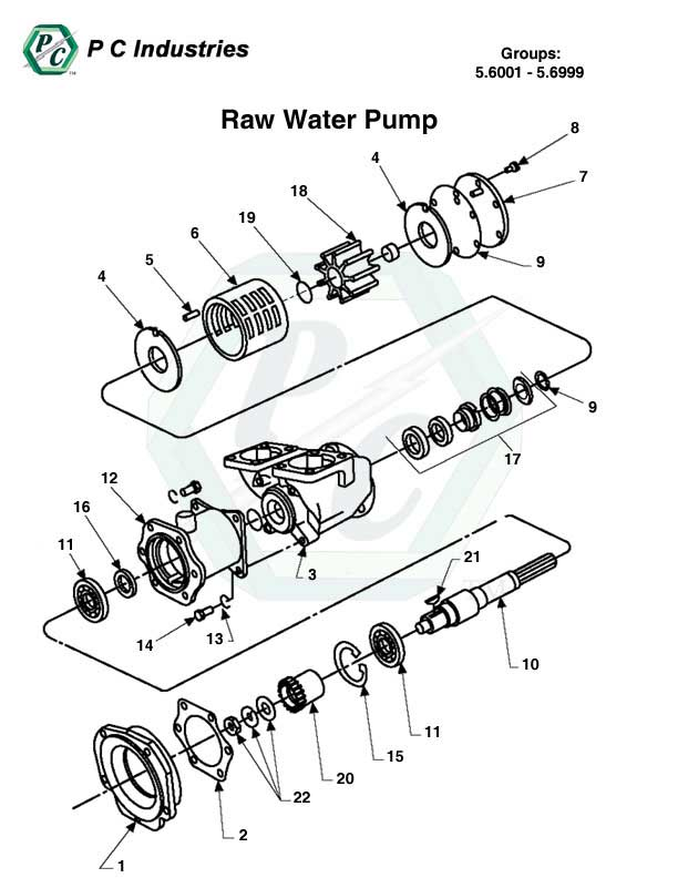 Raw Water Pump Series 149 Detroit Diesel Engines Catalog