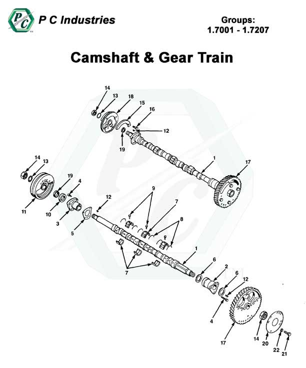 camshaft  u0026 gear train