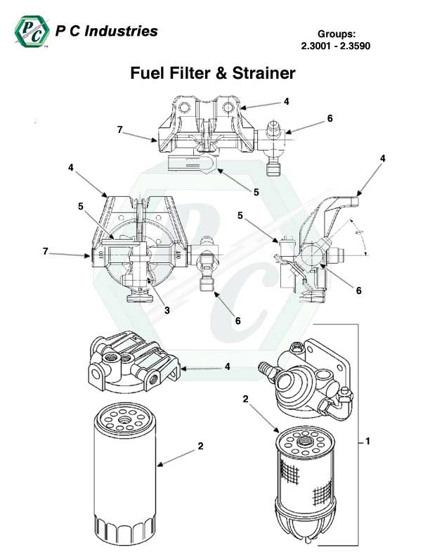 Fuel Filter Amp Strainer Series 60 Detroit Diesel Engines