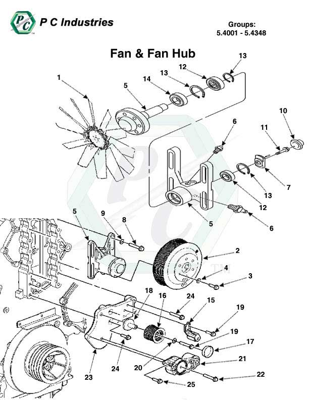 Fan Amp Fan Hub Series 60 Detroit Diesel Engines Catalog