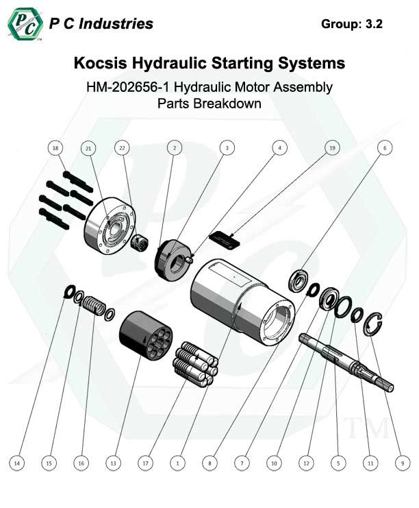 C Series Hydraulic Motor Assembly Parts Breakdown Kocsis
