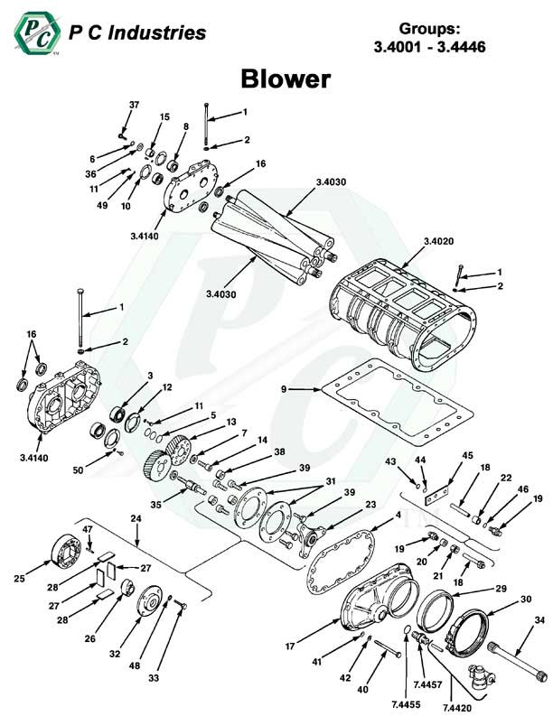 Blower Series V 71 Detroit Diesel Engines Catalog Page 103