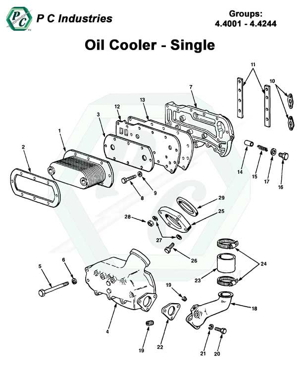 Oil Cooler Series V 71 Detroit Diesel Engines Catalog