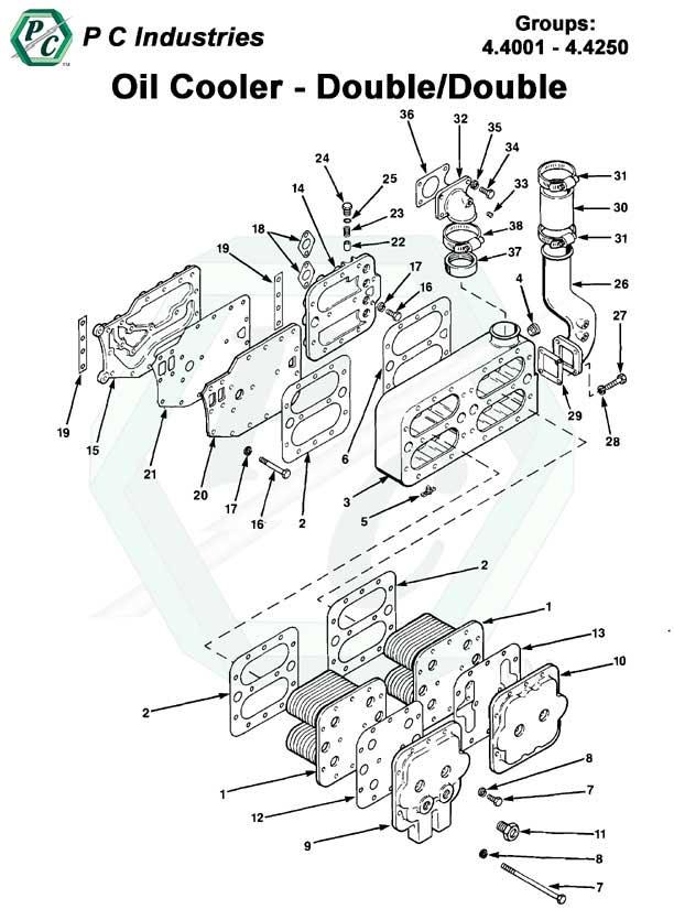 oil cooler series v 71 detroit diesel engines catalog. Black Bedroom Furniture Sets. Home Design Ideas