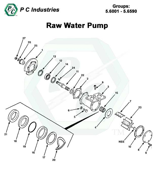 V71_raw_water_pump_pg193-198.jpg - Diagram