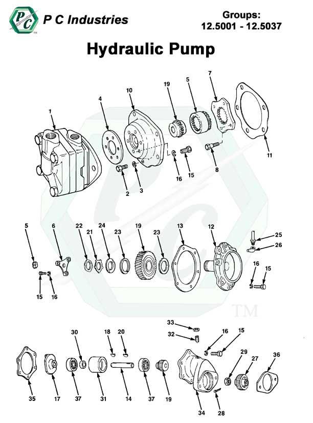 Hydraulic Pump Series V 71 Detroit Diesel Engines