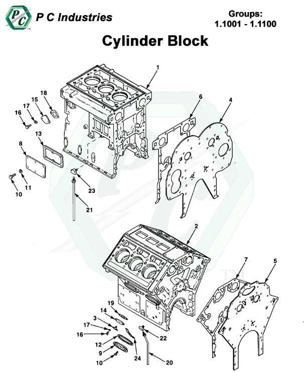 cylinder block series 53 detroit diesel engines catalog page 3