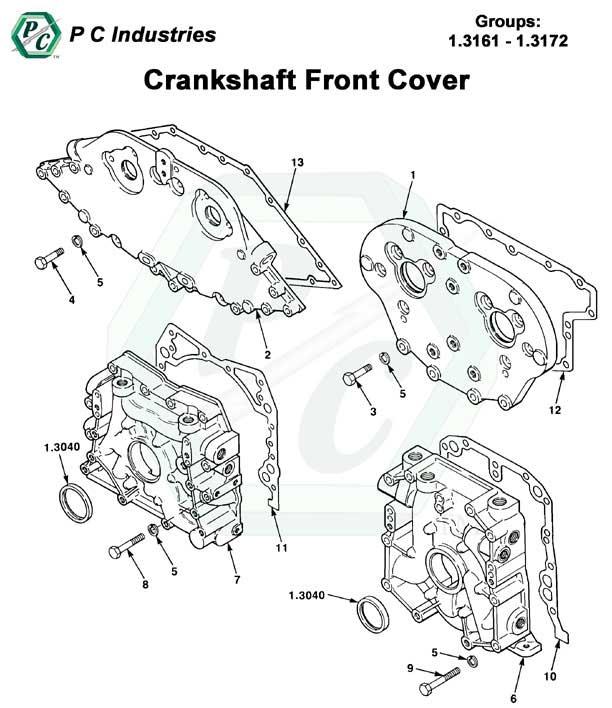 Crankshaft Front Cover Series 53 Detroit Diesel Engines