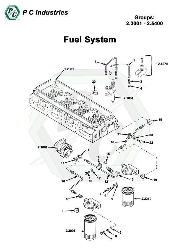Fuel System Series Inline 71 Detroit Diesel Engines