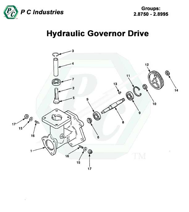 hydraulic governor drive