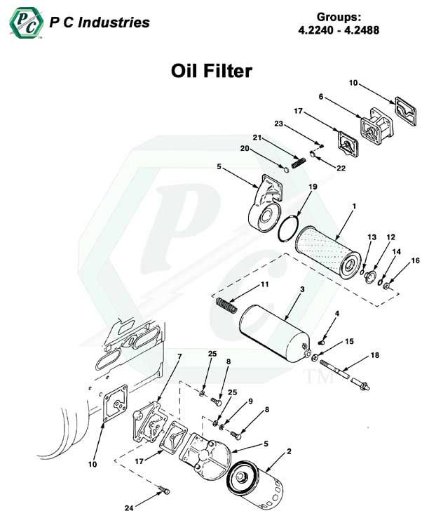 Oil Filter Series 53 Detroit Diesel Engines Catalog Page 107