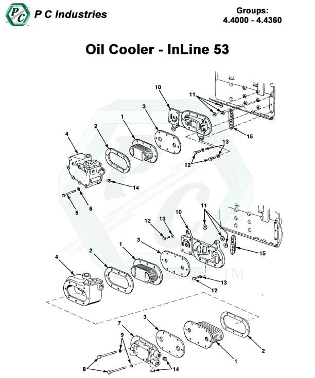 Oil Cooler Series 53 Detroit Diesel Engines Catalog Page 109