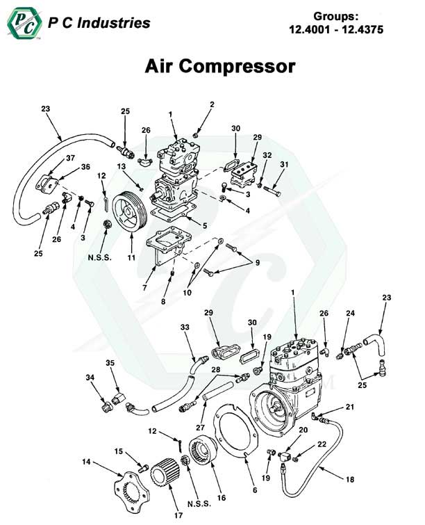 Dt466 Coolant Temperature Sensor Location moreover Chevy Ls Engine Diagram in addition Sae Housing And Flywheel Sizes furthermore Detroit Diesel Series 60 Engine Torque Specs in addition Air  pressor. on detroit 60 series parts diagram