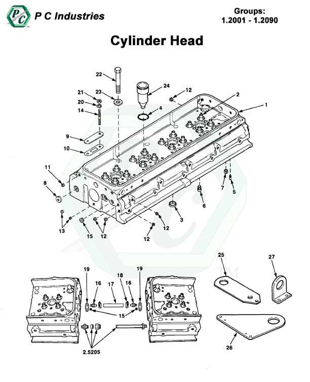 Cylinder Head Series 92 Detroit Diesel Engines Catalog Page 3 – Diesel 12 Cylinder Engine Diagram