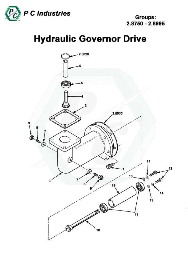 hydraulic governor drive