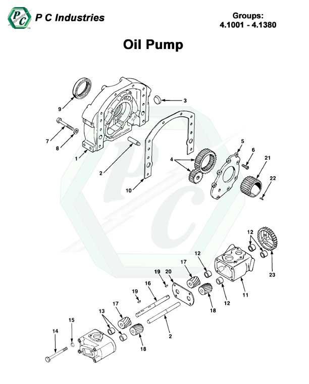 Oil Pump - Series 92 Detroit Diesel Engines Catalog Page 163