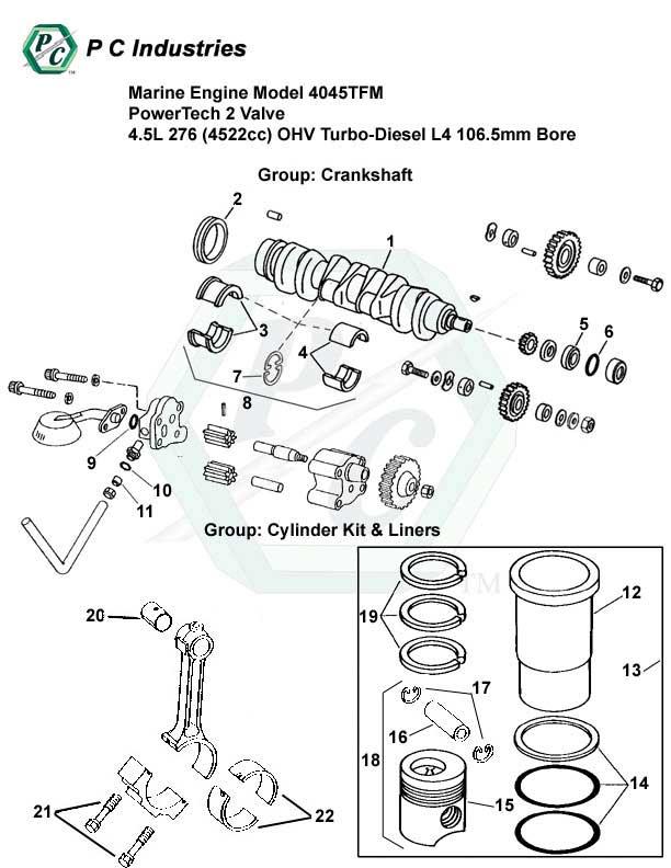 marine engine model 4045tfm powertech 2 valve 4 5l 276