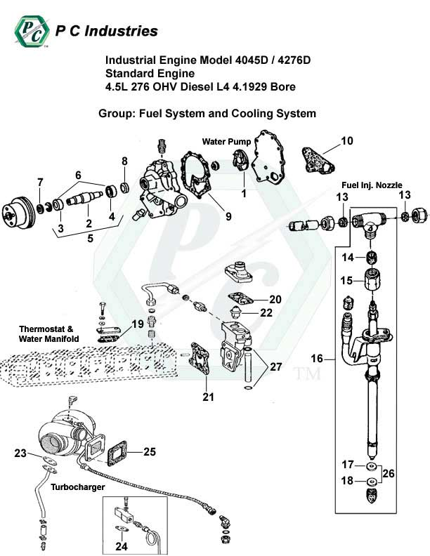 john deere 4045 engine diagram